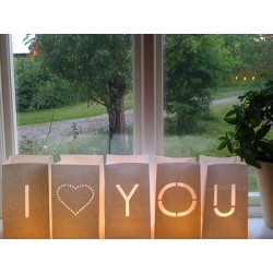 Deco Mariage - Pack 5 Photophores I COEUR YOU GM - Tindra4U