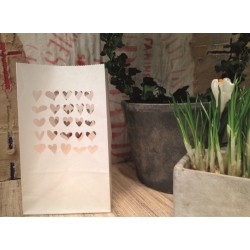 Pack 6 Photophores Petits Coeurs GM