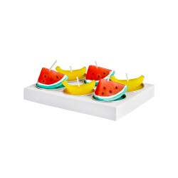 Lot de 6 bougies Fruits Klevering