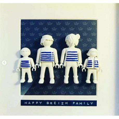 Tableau Playmo Happy Breizh Family 4 personnages