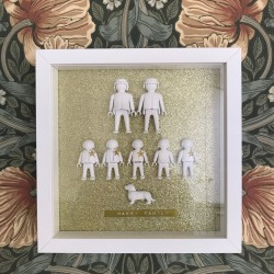 Tableau Playmo Happy Family 8 personnages (7 playmo + 1 chien)