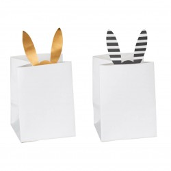 Lot de 2 photophores papier Lapin - Räder Design
