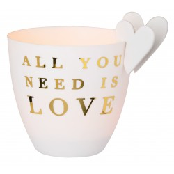 "Photophore ""all you need is love"" RADER DESIGN"